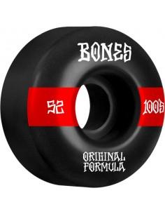 Roues Bones 100's 52mm V4 Black Wide #12