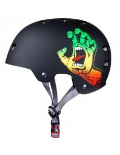 "Santa Cruz Bullet ""Screaming Hand"" Rasta Helmet"