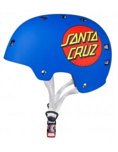 "Santa Cruz Bullet ""Classic Dot"" Blue Helmet"