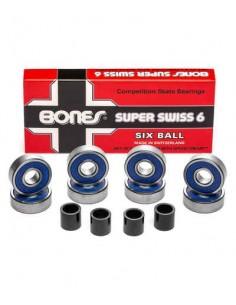 Roulements Bones Reds Super Swiss 6 Ball